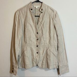 Coldwater Creek Jacket Blazer Coat Button Tan